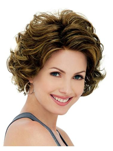 Lace Front Cosy Curly Synthetic Medium Wigs