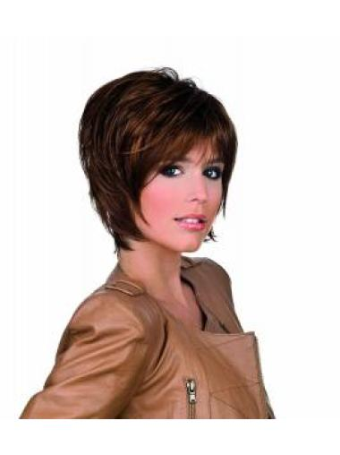 Soft Synthetic Auburn Lace Front Medium Wigs