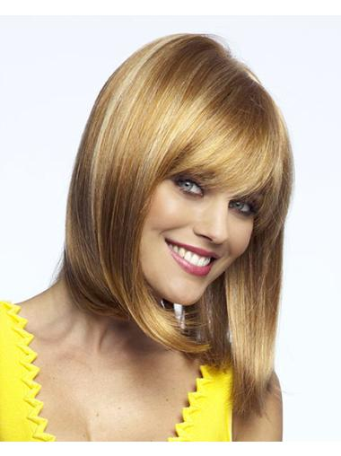 Blonde Hairstyles Lace Front Synthetic Medium Wigs