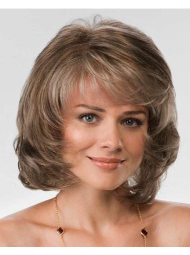 New Brown Wavy Chin Length Synthetic Wigs