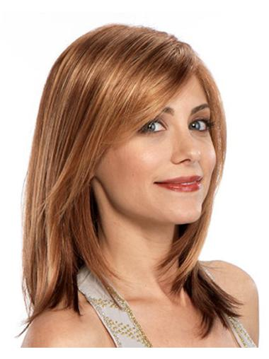 Easy Auburn Straight Shoulder Length Synthetic Wigs