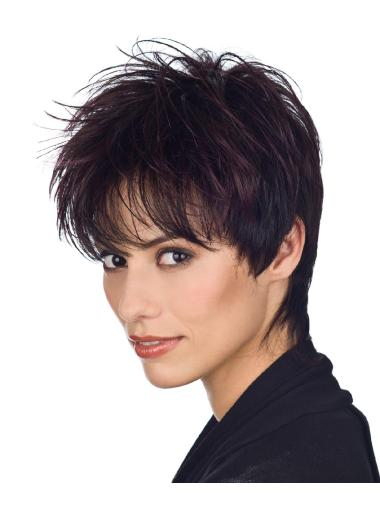Top Auburn Straight Cropped Synthetic Wigs