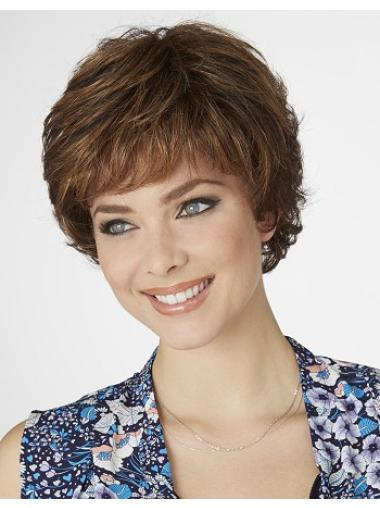 Amazing Brown Curly Short Synthetic Wigs