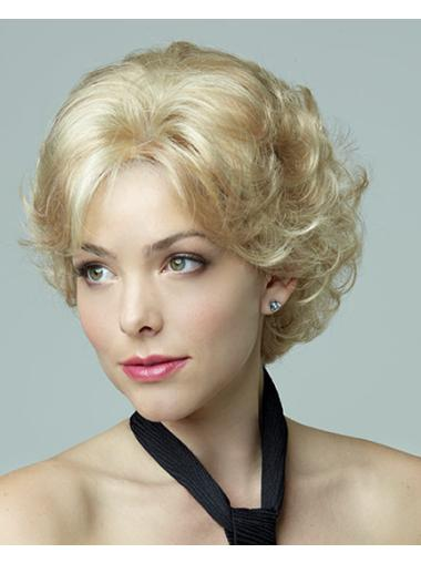 New Blonde Curly Short Petite Wigs