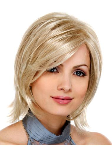 Blonde New Lace Front Synthetic Medium Wigs