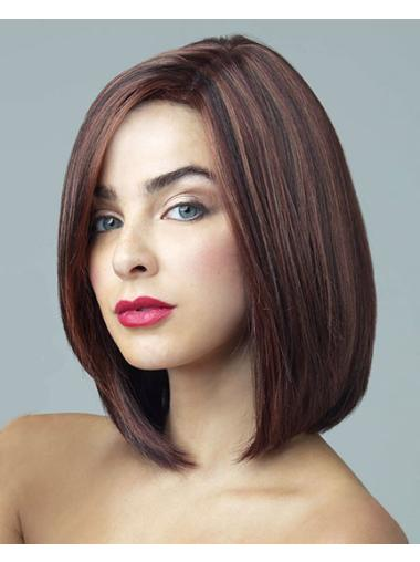 Gorgeous Synthetic Auburn Lace Front Medium Wigs