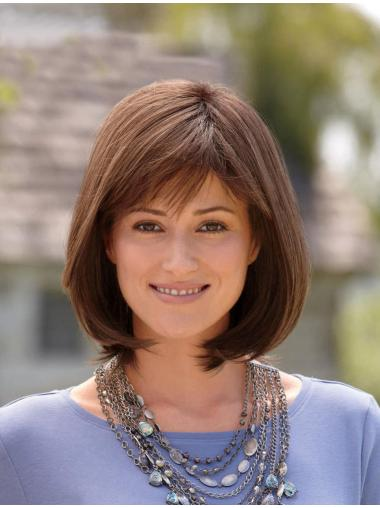 Perfect Brown Straight Chin Length Bob Wigs