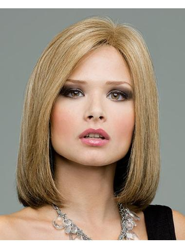 New Blonde Lace Front Chin Length Remy Human Lace Wigs