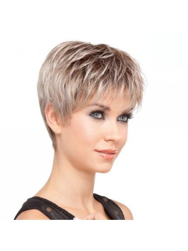 Synthetic Blonde Lace Front Faddish Short Wigs