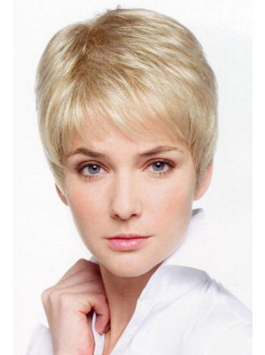 Style Blonde Lace Front Cropped Petite Wigs