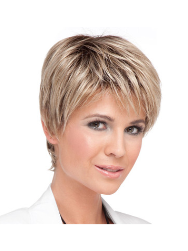 Blonde Lace Front Synthetic Preferential Short Wigs