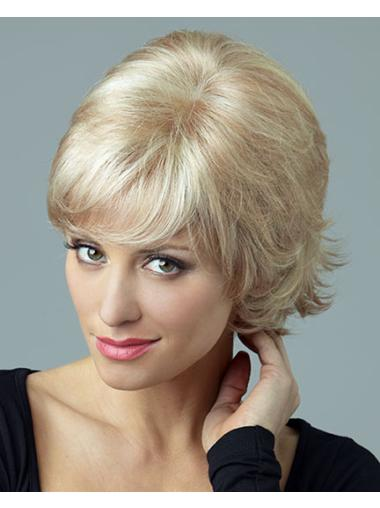 Blonde Curly Synthetic Style Short Wigs