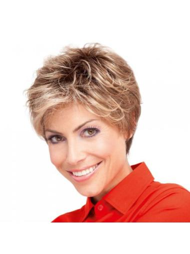 Blonde Curly Synthetic Sassy Short Wigs