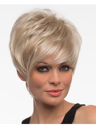 Top Straight Boycuts Blonde Short Wigs