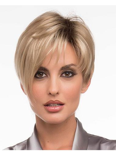 Synthetic Blonde Straight Top Short Wigs