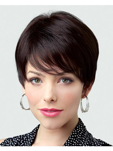 Brown Style Boycuts Straight Short Wigs
