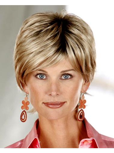 Blonde Wholesome Layered Straight Short Wigs