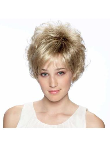 Blonde Curly Synthetic Soft Short Wigs