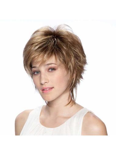 Blonde Pleasing Layered Straight Short Wigs