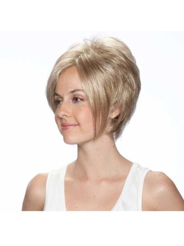 Fabulous Straight Bobs Blonde Short Wigs