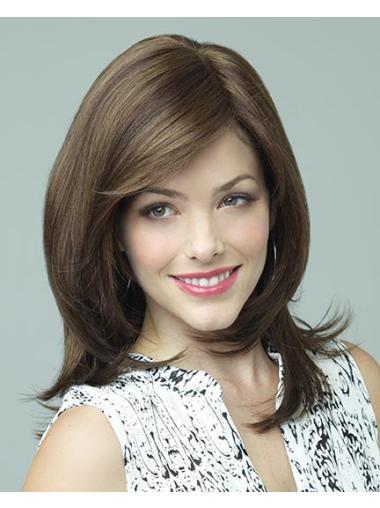 Suitable Lace Front Straight Shoulder Length Lace Wigs