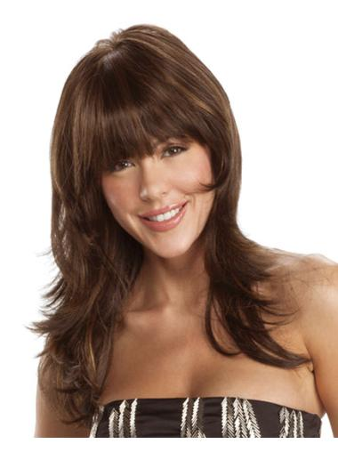Stylish Auburn Wavy Synthetic Long Wigs