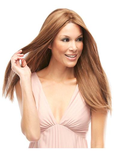 Nice Remy Human Hair Auburn Lace Front Long Wigs
