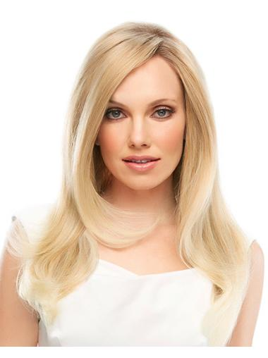 Glamorous Blonde Lace Front Remy Human Hair Long Wigs