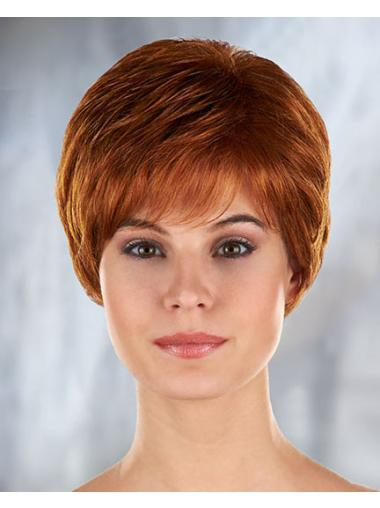 Auburn Curly Synthetic Refined Short Wigs
