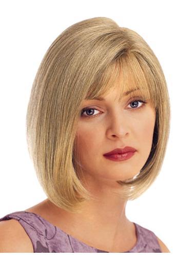 Blonde Straight Synthetic Faddish Short Wigs
