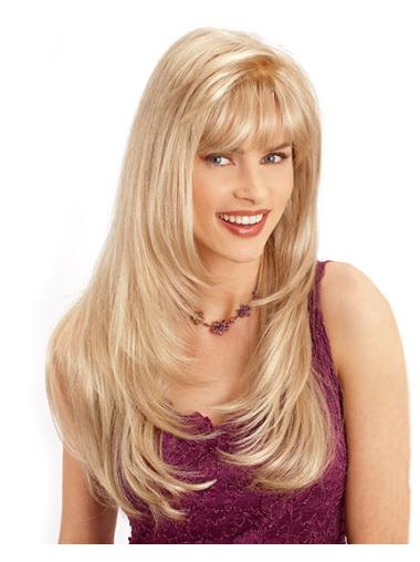 Incredible Blonde Wavy Long Synthetic Wigs