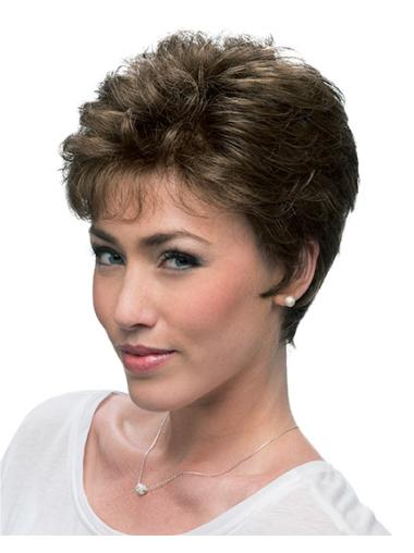 Lace Front Tempting Layered Curly Short Wigs