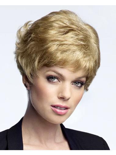 No-fuss Curly Boycuts Blonde Short Wigs