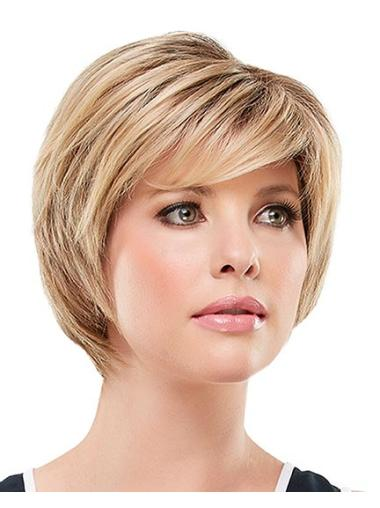 Synthetic Blonde Lace Front Suitable Short Wigs
