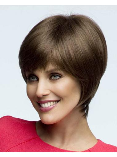 Lace Front Straight Synthetic Traditiona Short Wigs