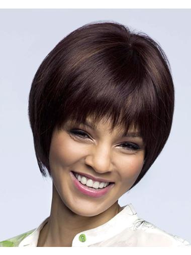 Natural Synthetic Auburn Lace Front Medium Wigs