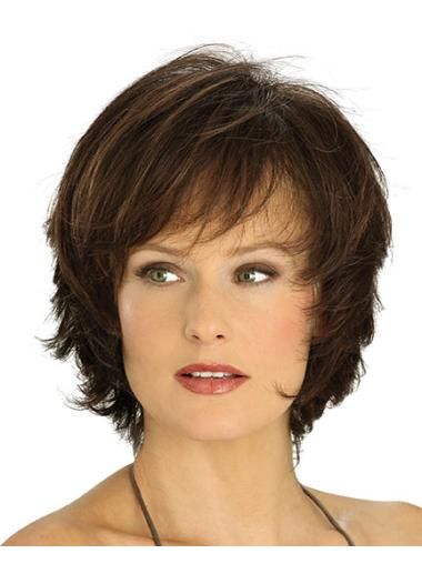 Lace Front Straight Synthetic Graceful Medium Wigs