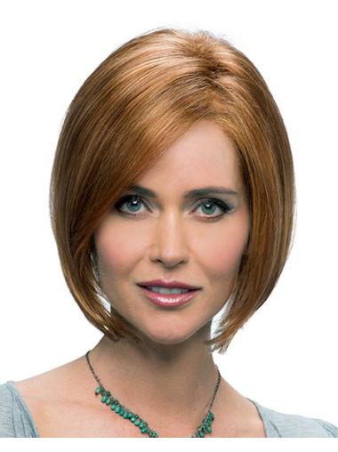 IncLace Frontible Synthetic Auburn Straight Medium Wigs