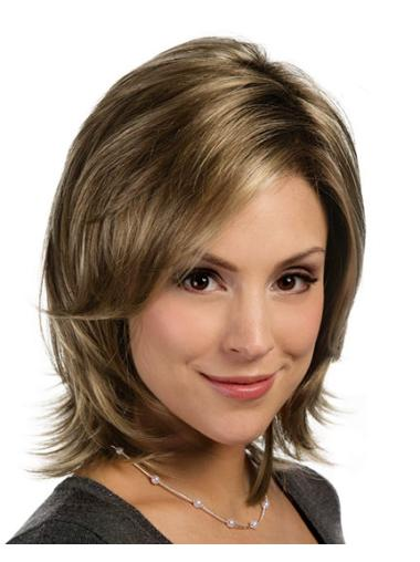 Stylish Lace Front Straight Shoulder Length Lace Wigs