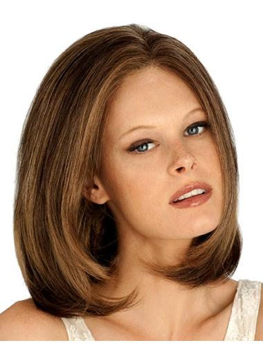 Auburn Durable Lace Front Synthetic Medium Wigs