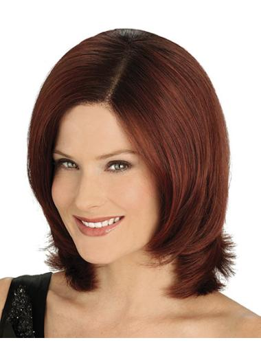 Tempting Auburn Lace Front Chin Length Wigs