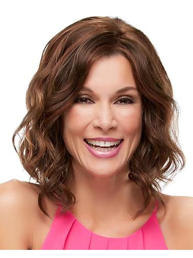 Lace Front Tempting Wavy Synthetic Medium Wigs