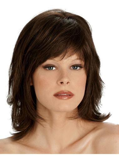 Lace Front New Straight Synthetic Medium Wigs