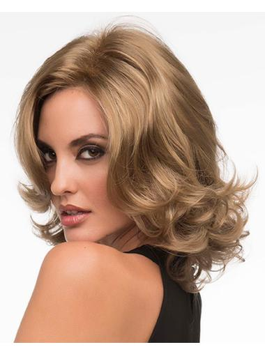 No-fuss Blonde Curly Chin Length Lace Front Wigs