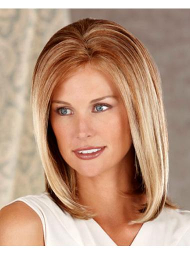 Lace Front Durable Straight Synthetic Medium Wigs