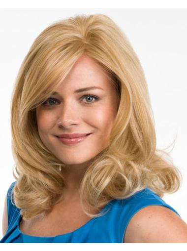 Shining Blonde Curly Synthetic Long Wigs