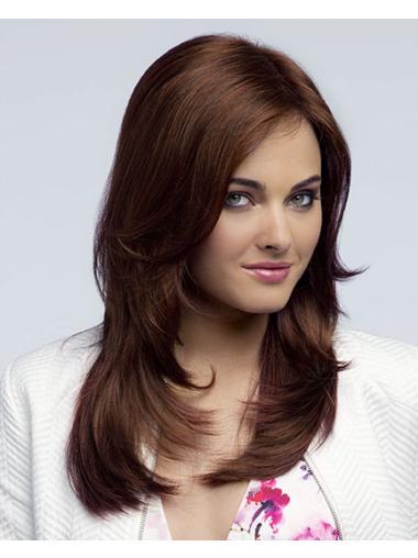 Auburn LayeLace Front Straight Shining Long Wigs