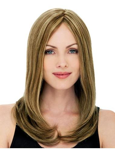 Blonde Lace Front Remy Human Hair Long Wigs