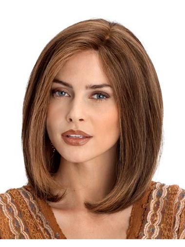 Easy Auburn Lace Front Shoulder Length Remy Human Lace Wigs