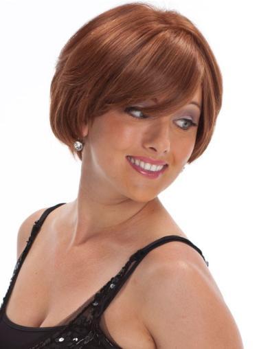 Discount Auburn Curly Chin Length Petite Wigs